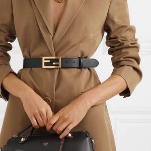 NWT Fendi Leather Logo Belt